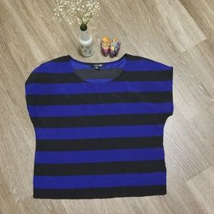 Striped Blue and Black Blouse